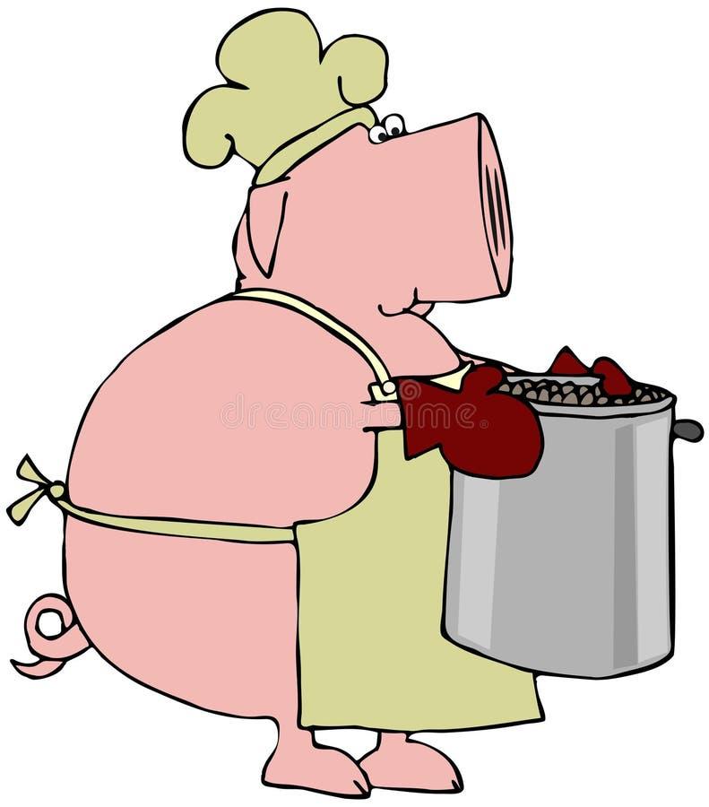 χοιρινό κρέας φασολιών διανυσματική απεικόνιση