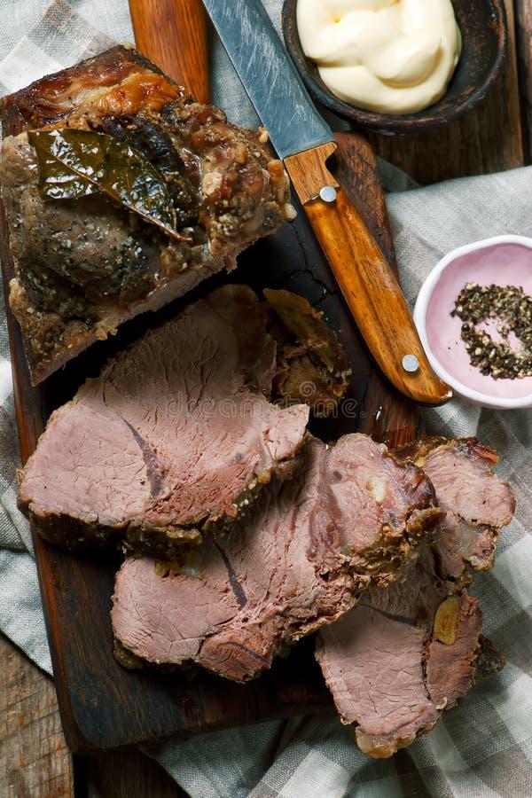 Χοιρινό κρέας ψητού Ύφος αγροτικό στοκ εικόνα