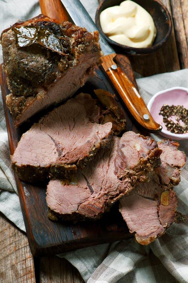Χοιρινό κρέας ψητού Ύφος αγροτικό στοκ φωτογραφία