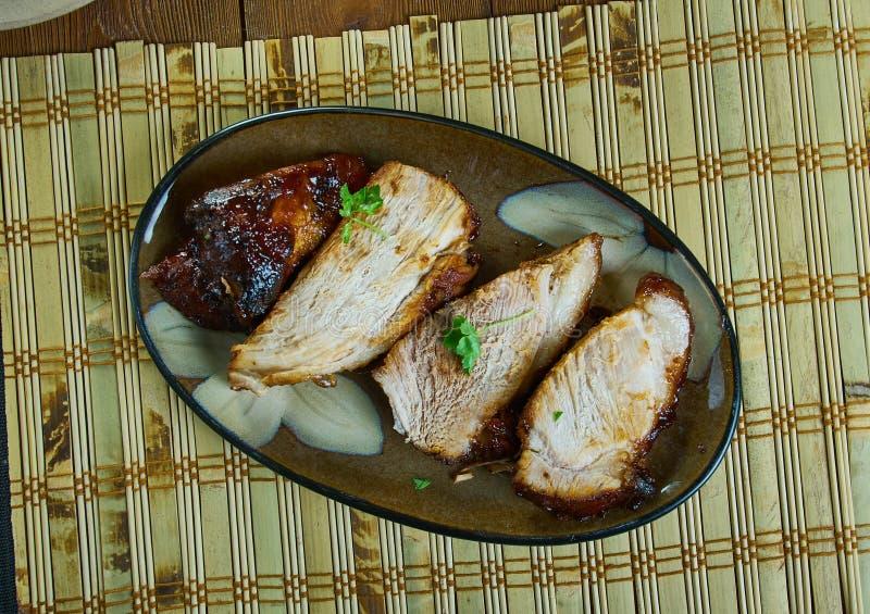 Χοιρινό κρέας ψητού pernil-ύφους στοκ φωτογραφίες