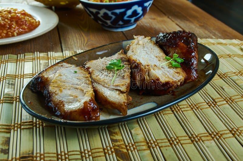 Χοιρινό κρέας ψητού pernil-ύφους στοκ εικόνες με δικαίωμα ελεύθερης χρήσης