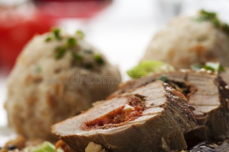 χοιρινό κρέας λωρίδων που γεμίζεται στοκ εικόνα με δικαίωμα ελεύθερης χρήσης