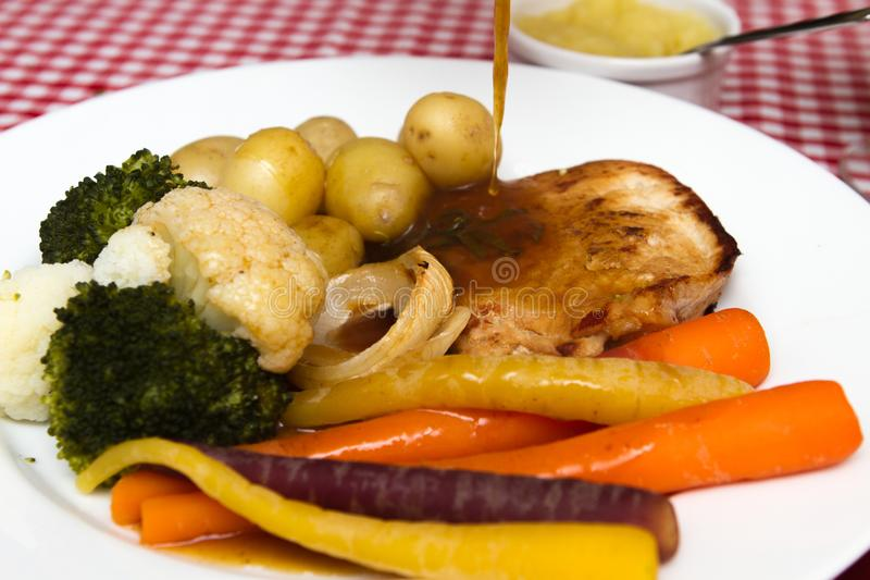 Χοιρινό κρέας escalope στοκ εικόνα