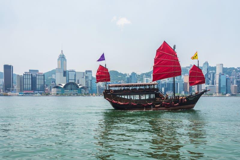 Χονγκ Κονγκ - 27 Ιουλίου 2014: Χονγκ Κονγκ Βικτώρια στοκ εικόνες