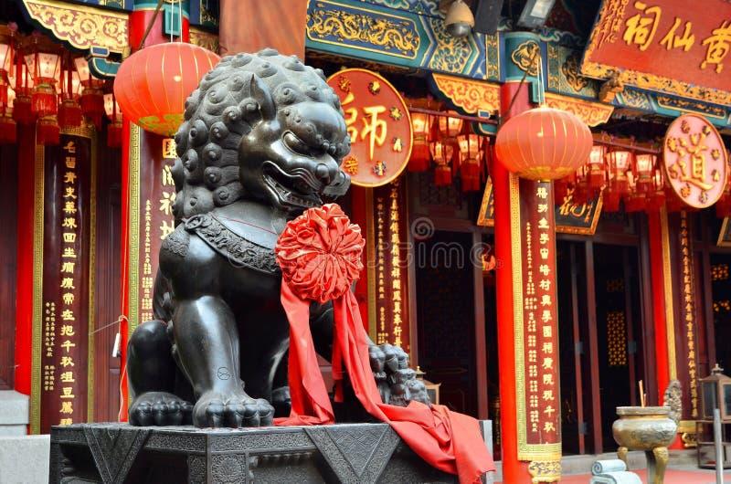 ΧΟΝΓΚ ΚΟΝΓΚ, ΚΙΝΑ - 13 ΜΑΡΤΊΟΥ 2018: Tai Wong ναός αμαρτίας στο Χονγκ Κονγκ στοκ εικόνες