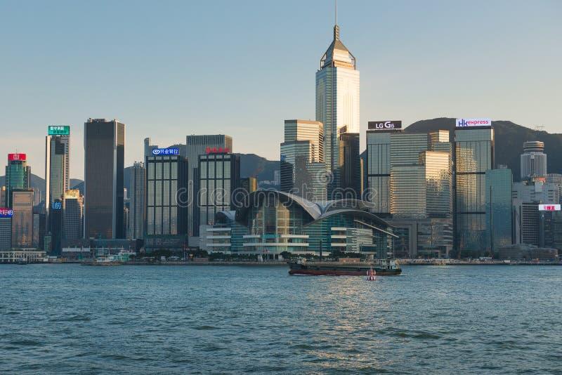 ΧΟΝΓΚ ΚΟΝΓΚ, ΚΙΝΑ - 2 Νοεμβρίου 2017 Ορίζοντας του Χονγκ Κονγκ στο SU στοκ εικόνα