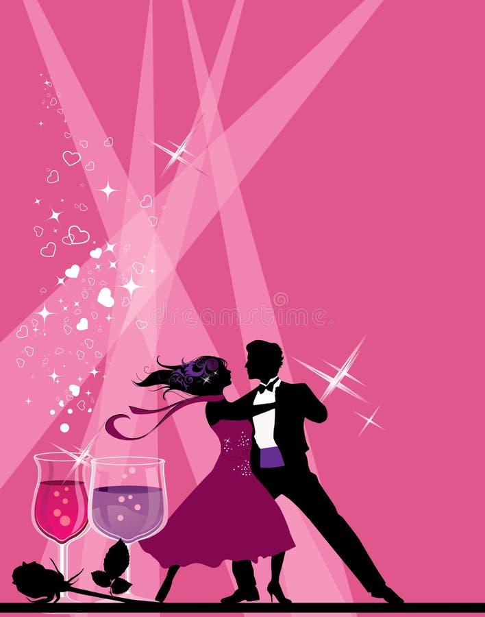 χορευτές αιθουσών χορού απεικόνιση αποθεμάτων