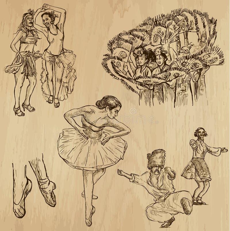 Χορευτές αριθ. 4 - συρμένη χέρι συλλογή, διάνυσμα ελεύθερη απεικόνιση δικαιώματος