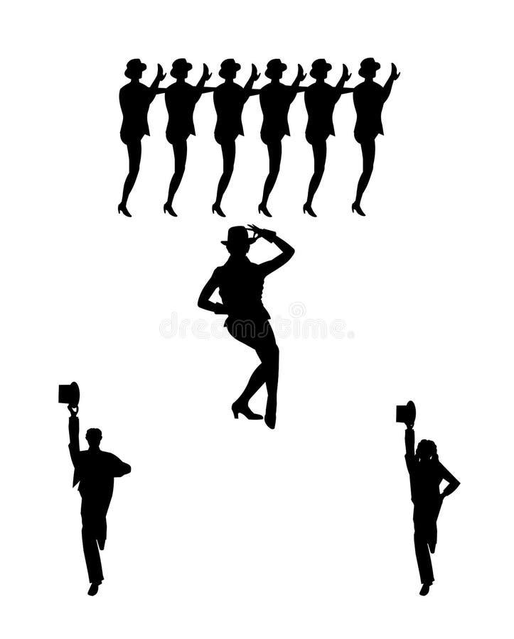 Χορευτές γραμμών χορωδιών ελεύθερη απεικόνιση δικαιώματος