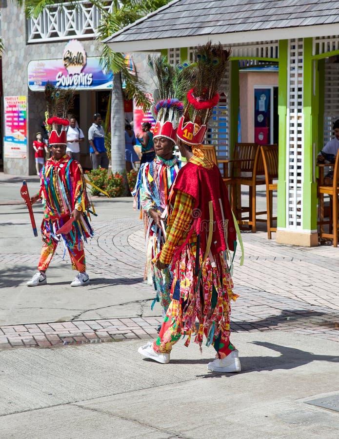 Χορευτές σε St. Kitts στοκ φωτογραφία