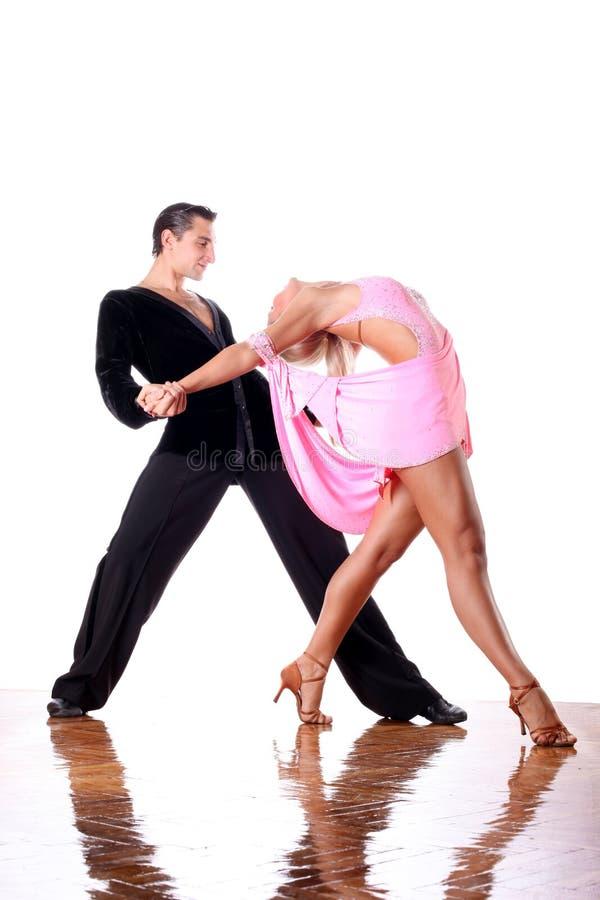 Χορευτές στην αίθουσα χορού στοκ φωτογραφίες