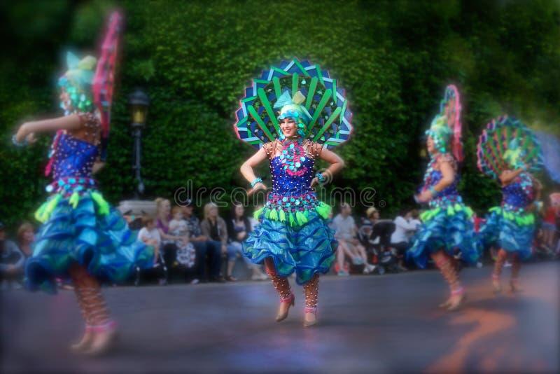 Χορευτές στη φαντασία Disneyland Disneyland στοκ εικόνα με δικαίωμα ελεύθερης χρήσης