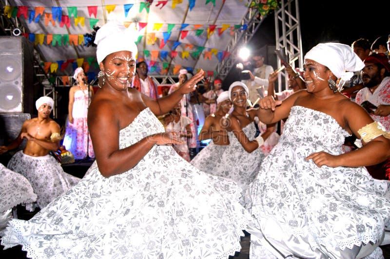 Χορευτές Afoxe στοκ φωτογραφίες
