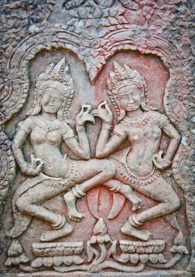 χορευτές apsara angkor wat στοκ εικόνες με δικαίωμα ελεύθερης χρήσης