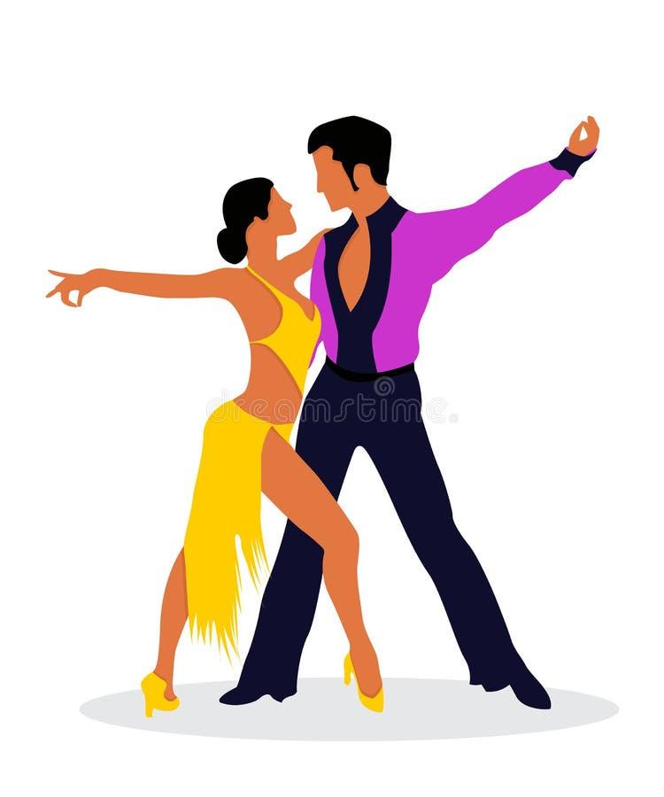 Χορευτές Salsa ελεύθερη απεικόνιση δικαιώματος