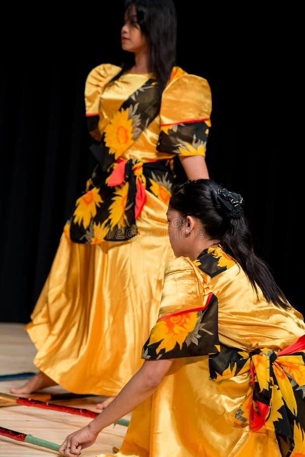 Χορευτές - Tinikling - των Φηληππίνων παράδοση στοκ εικόνες