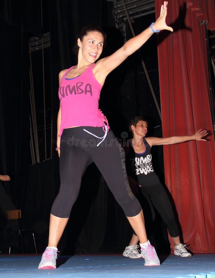 Χορευτές Zumba στοκ φωτογραφίες