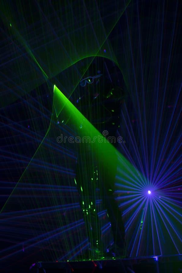 Χορευτής λέιζερ Disco στοκ εικόνες