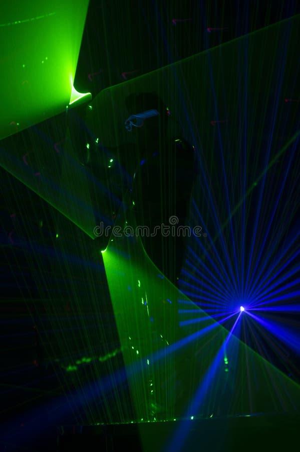 Χορευτής λέιζερ Disco στοκ εικόνα με δικαίωμα ελεύθερης χρήσης