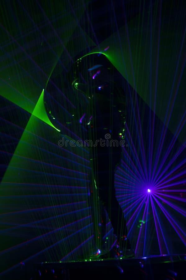Χορευτής λέιζερ Disco στοκ φωτογραφίες με δικαίωμα ελεύθερης χρήσης