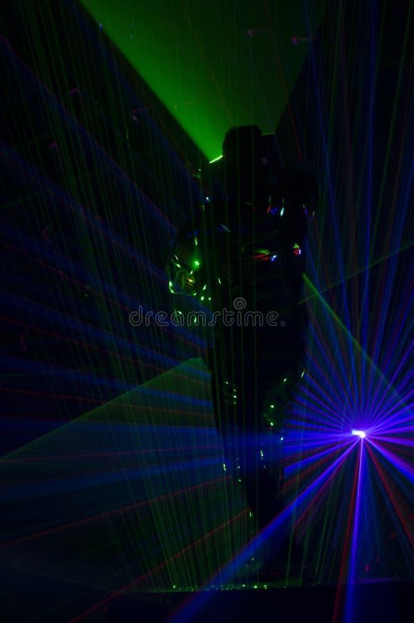 Χορευτής λέιζερ Disco στοκ φωτογραφίες