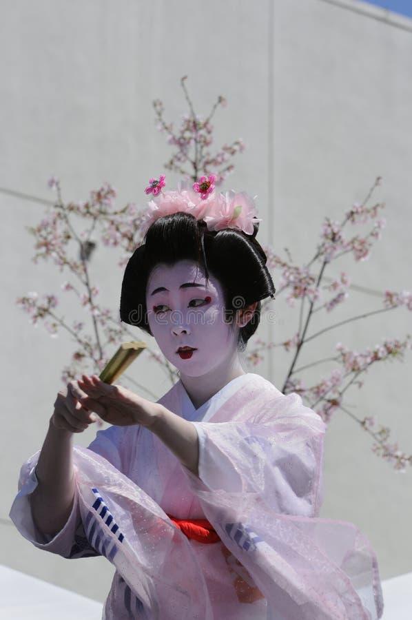 χορευτής ιαπωνικά στοκ φωτογραφία με δικαίωμα ελεύθερης χρήσης