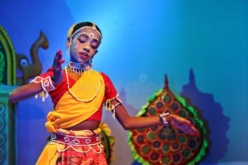 χορευτής λαϊκός Ινδός στοκ φωτογραφία