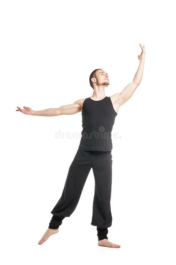Χορευτής μπαλέτου με το βραχίονα που αυξάνεται στοκ εικόνα με δικαίωμα ελεύθερης χρήσης
