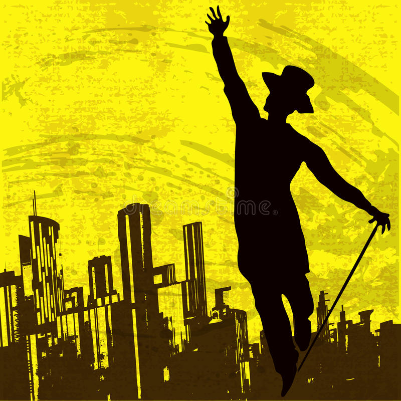 χορευτής πόλεων απεικόνιση αποθεμάτων