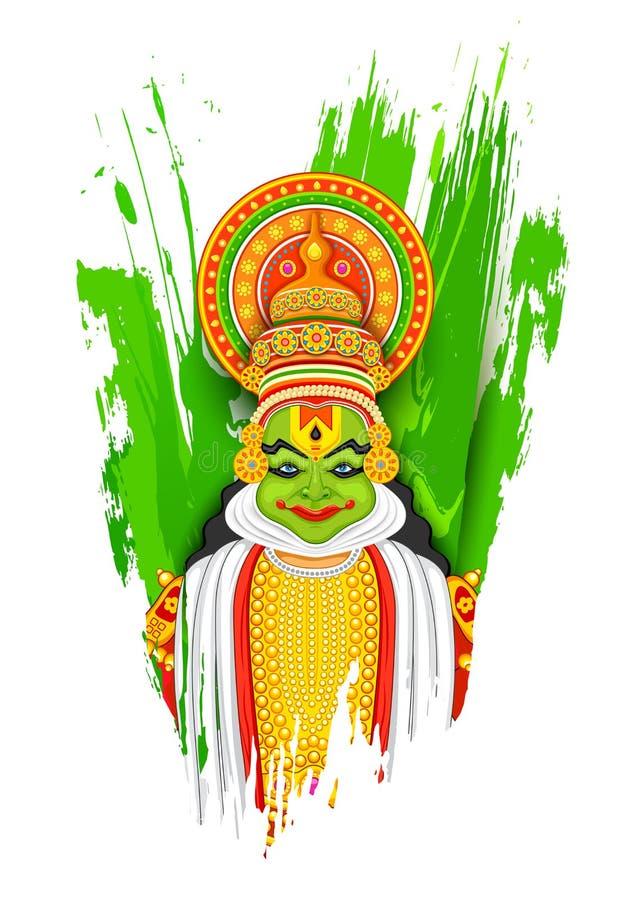 Χορευτής Kathakali ελεύθερη απεικόνιση δικαιώματος