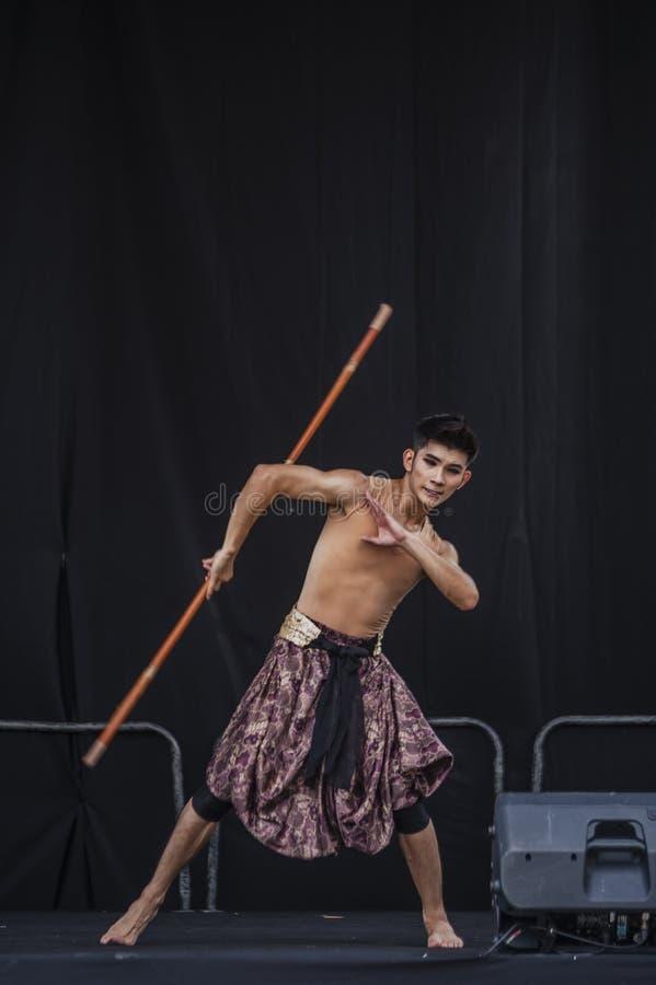 Χορευτής Wushu στοκ εικόνα
