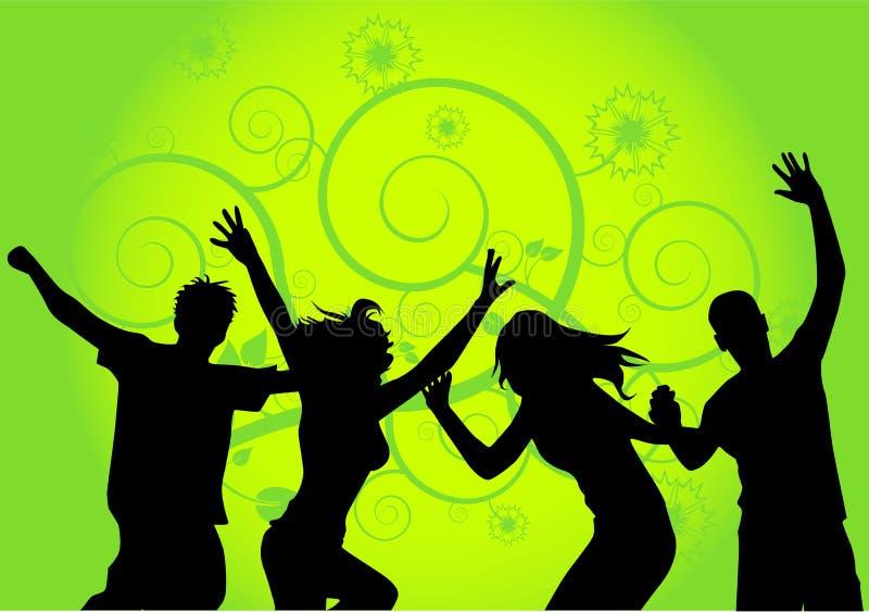 χορεύοντας άνθρωποι β διανυσματική απεικόνιση