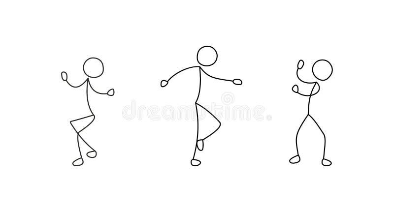 Χορεύοντας άνθρωποι, ελεύθερο σχέδιο, σκίτσο ελεύθερη απεικόνιση δικαιώματος