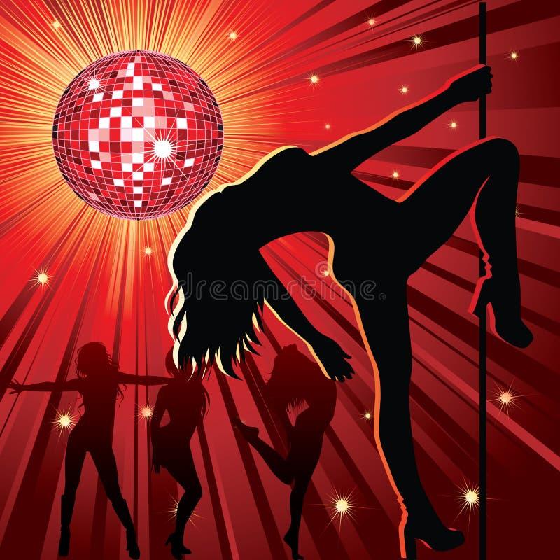 χορεύοντας άνθρωποι νύχτα& απεικόνιση αποθεμάτων