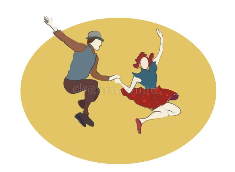 Χορεύοντας άνθρωποι ταλάντευσης διανυσματική απεικόνιση