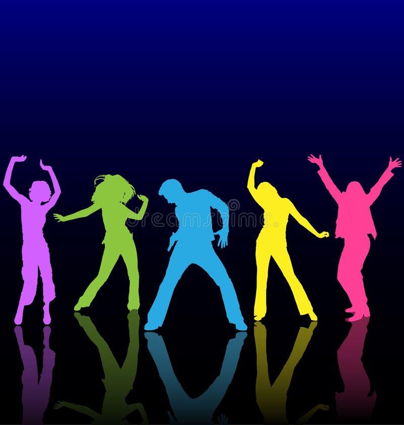 χορεύοντας άνθρωποι απεικόνιση αποθεμάτων