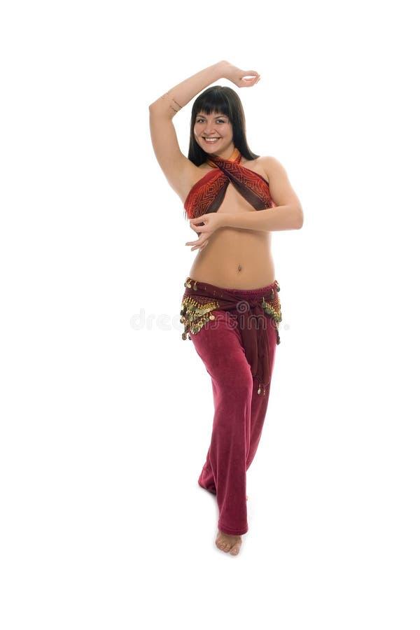 χορεύοντας ανατολική γυναίκα ομορφιάς στοκ φωτογραφίες