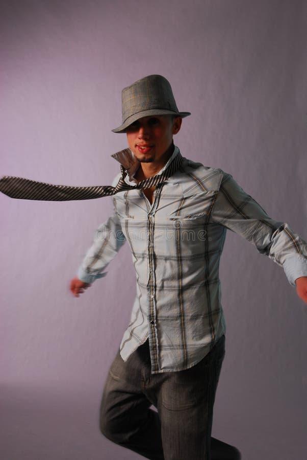 χορεύοντας αρσενικό plaid στοκ φωτογραφίες
