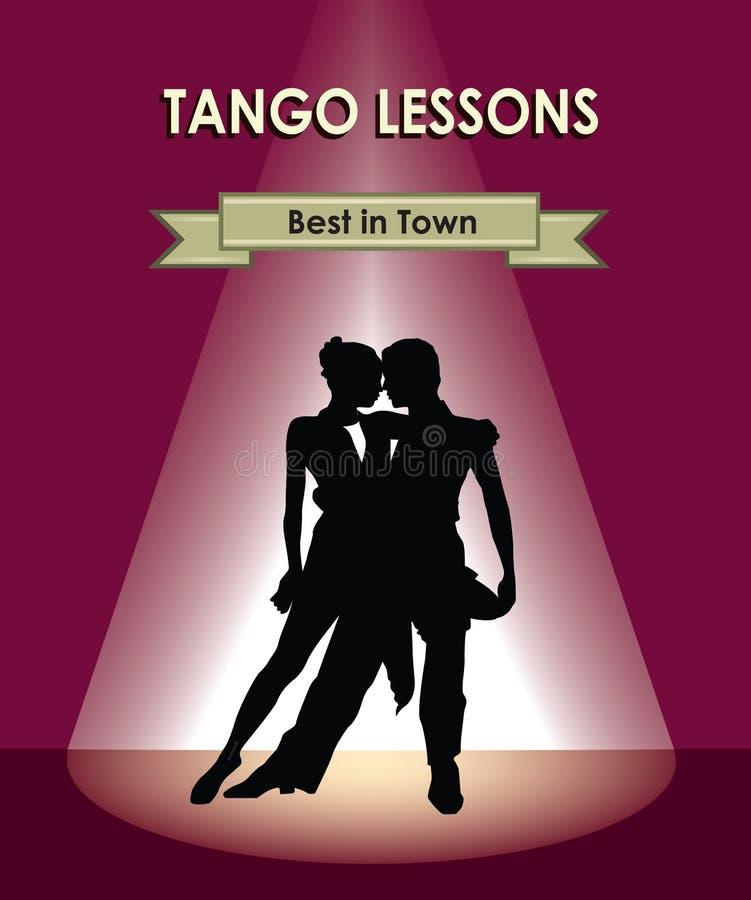 Χορεύοντας αφίσα λεσχών μουσικό διάνυσμα απεικόνισης χορού ζευγών Όμορφο επαγγελματικό danc ελεύθερη απεικόνιση δικαιώματος