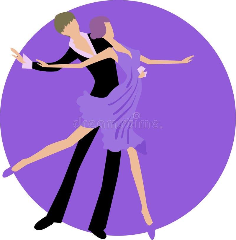 χορεύοντας γυναίκα ανδρών διανυσματική απεικόνιση