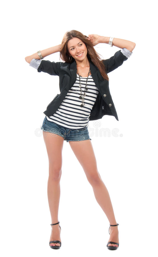 χορεύοντας γυναίκα υφα&si στοκ εικόνα