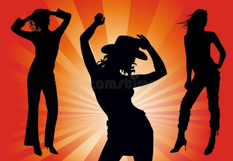 χορεύοντας γυναίκες απεικόνιση αποθεμάτων