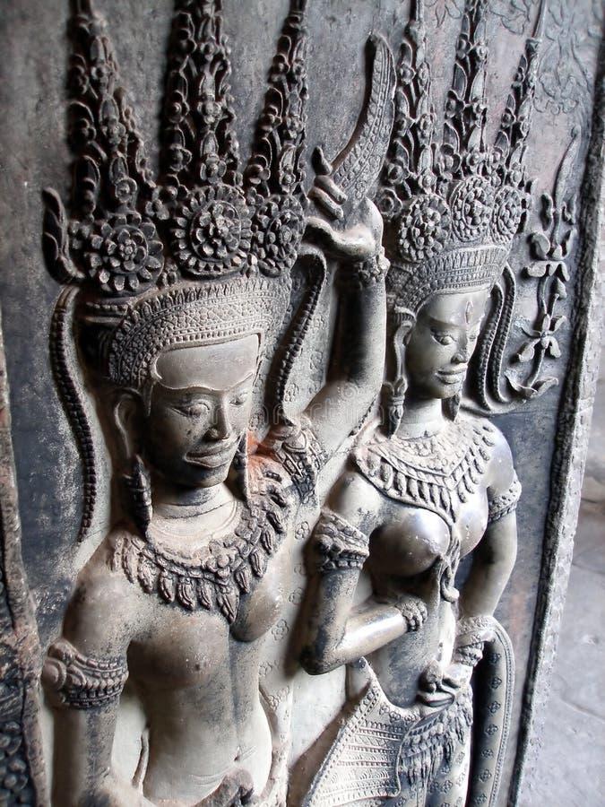 χορεύοντας κορίτσια της Καμπότζης apsara στοκ φωτογραφία με δικαίωμα ελεύθερης χρήσης