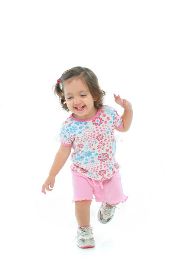 χορεύοντας κορίτσι που χαμογελά ελάχιστα στοκ φωτογραφίες