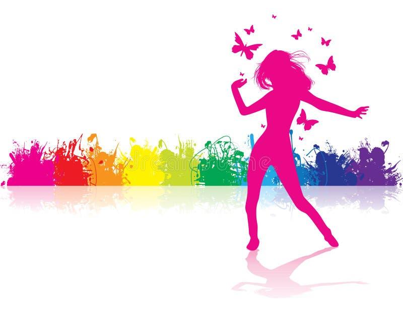 χορεύοντας κορίτσι απεικόνιση αποθεμάτων