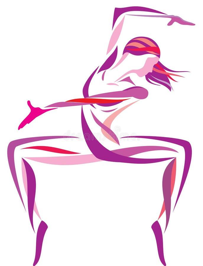 χορεύοντας κορίτσι διανυσματική απεικόνιση