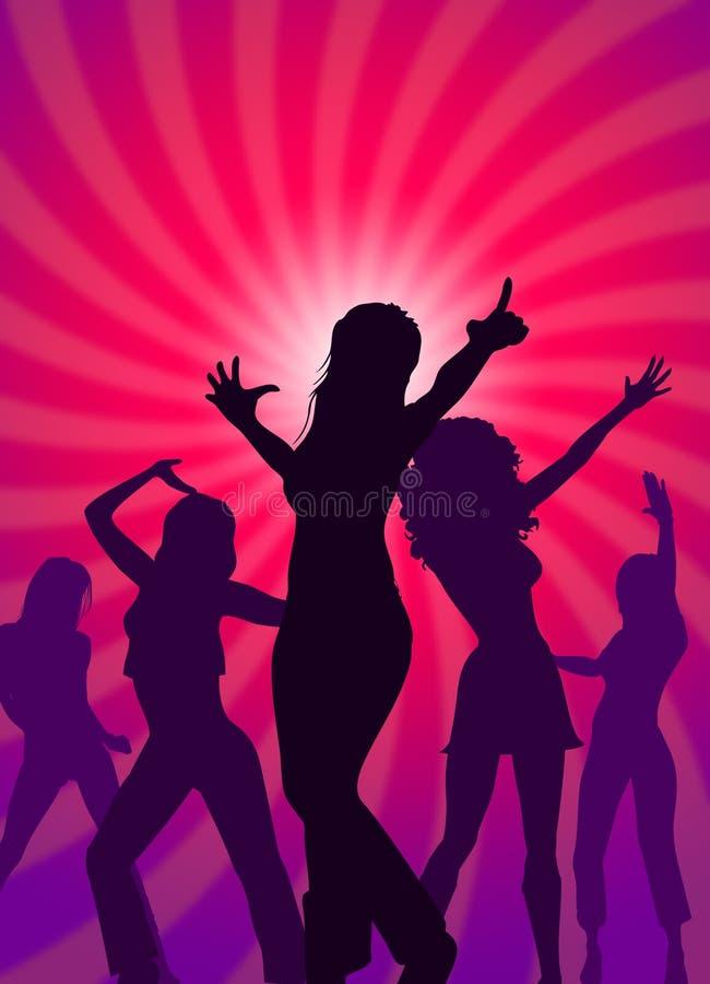 Χορεύοντας κόμμα ελεύθερη απεικόνιση δικαιώματος