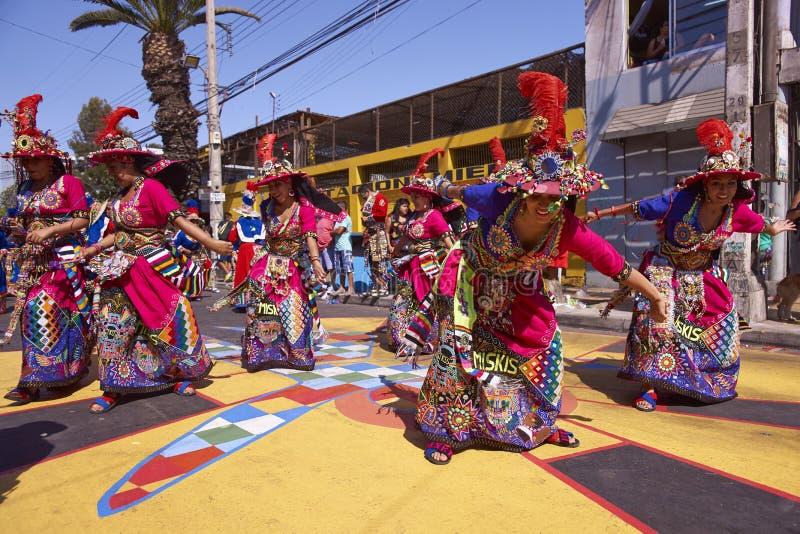 Χορεύοντας ομάδα Tinku - Arica, Χιλή στοκ φωτογραφία με δικαίωμα ελεύθερης χρήσης
