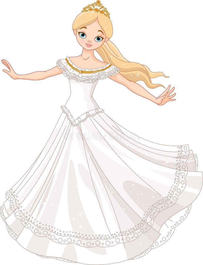χορεύοντας πριγκήπισσα διανυσματική απεικόνιση