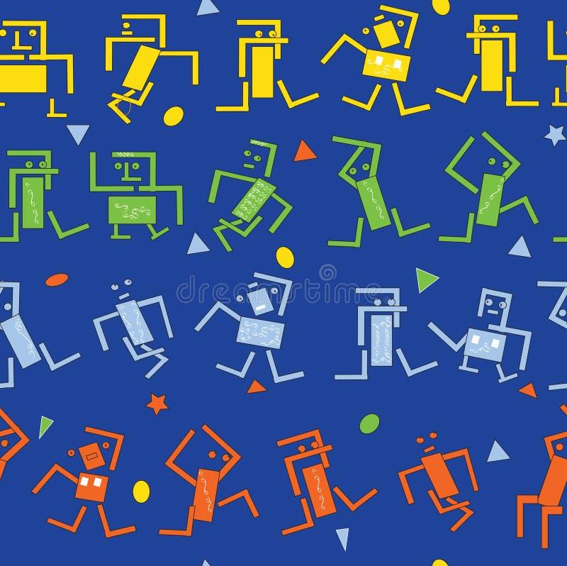 Χορεύοντας ρομπότ απεικόνιση αποθεμάτων